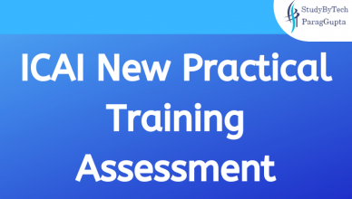 ICAI New Practical Training Assessment