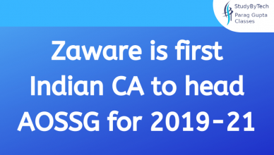 Zaware is first Indian CA to head AOSSG for 2019-21