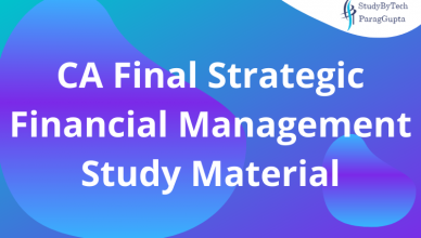 CA Final Strategic Financial Management Study Material