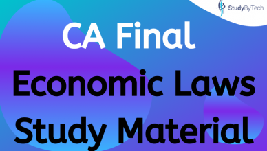 CA Final Economic Laws Study Material